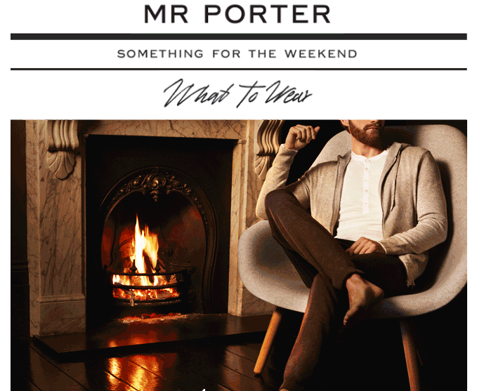 Mr. Porter email with an awesome cinemagraph